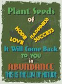 picture of abundance  - Retro Vintage Motivational Quote Poster - JPG