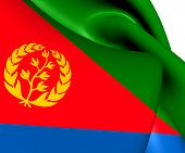 picture of eritrea  - 3D Flag of the Eritrea - JPG