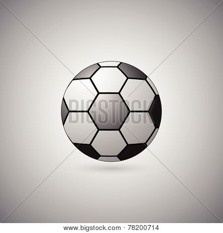 Ball Float On Gray Background
