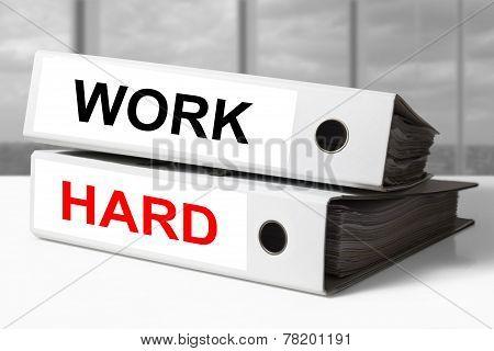 White Office Binders Work Hard