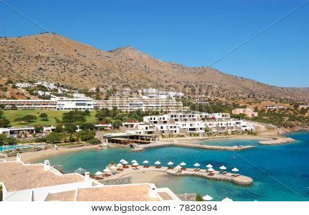 Beach Of The Luxury Hotel, Crete, Greece