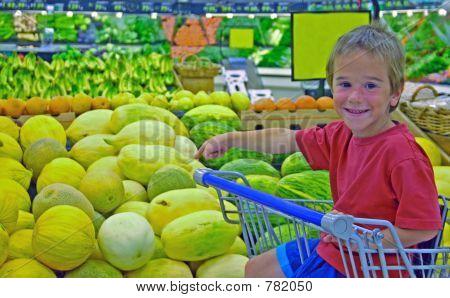 Boy in Grocery Store