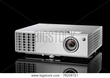 multimedia projector isolated on black background