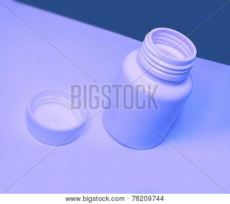 Empty Plastic Medical Jar