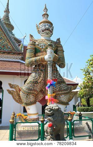 Green Giant In The Temple Of The Emerald Buddha, Bangkok, Thailand