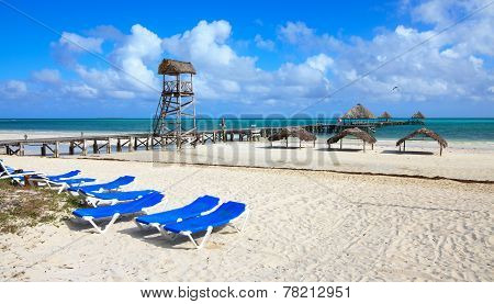 Beach of hotel