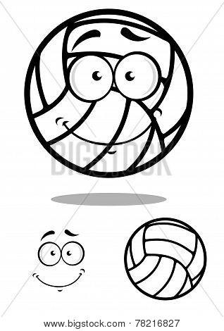 Shy volleyball ball character design elements