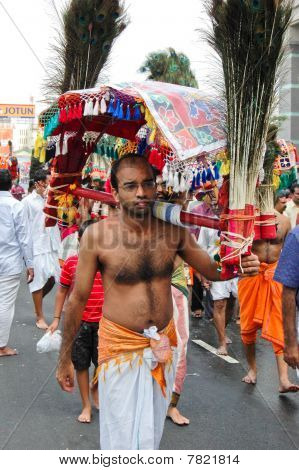 Devotee Carrying Kavadi