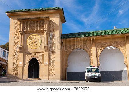 Facade Of Sidi Bou Abib Mosque In Tangier, Morocco