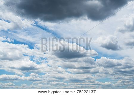 The Sky With Gray And White Clouds