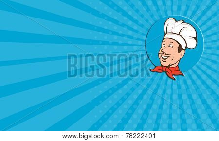 Business Card Chef Cook Baker Smiling Cartoon