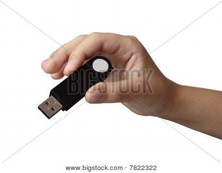 Hand Holding Usb Stick