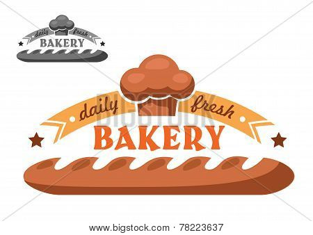 Bakery shop emblem or logo in two color variants