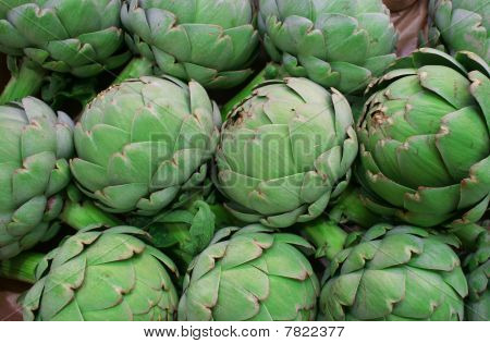 Fresh Green Artichoke On The Market