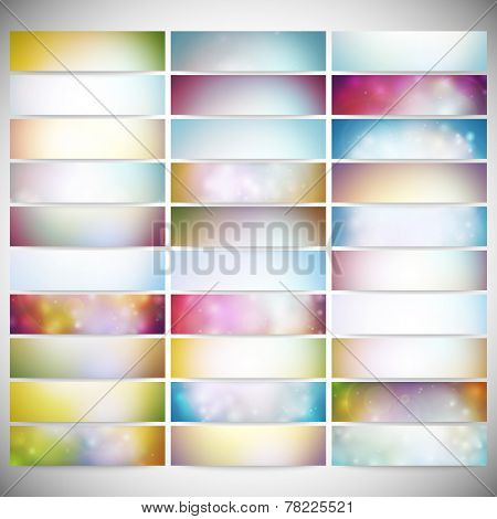 Big Abstract Colored Backgrounds Set. Modern horizontal banners, abstract banner design, business de