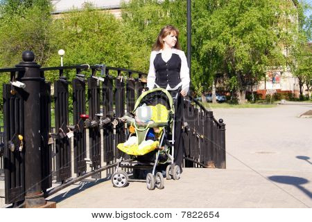 Mother with a carriage