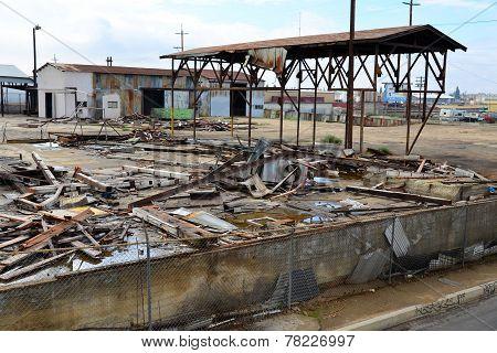 Demolished Factory Building