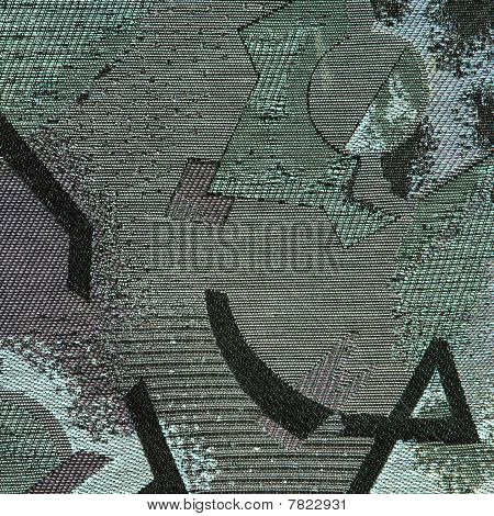 Carpet Fabric Pattern In Retro Style With Abstract Ornament