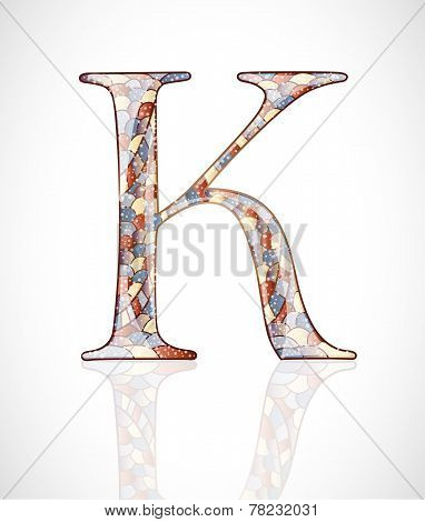 Abstract letter K.