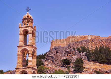 Tower of the Orthodox Church and of the walls of the fortress