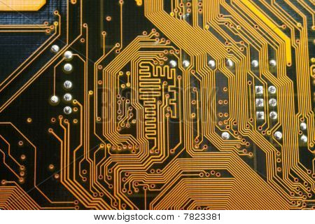 Abstract Background Of Computer Motherboard