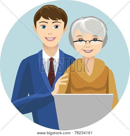 Grandsin and grandmother