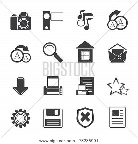Silhouette Simple Internet and Website Icons