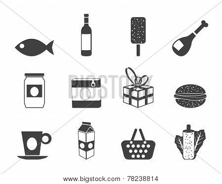 Silhouette Shop, food and drink icons 1
