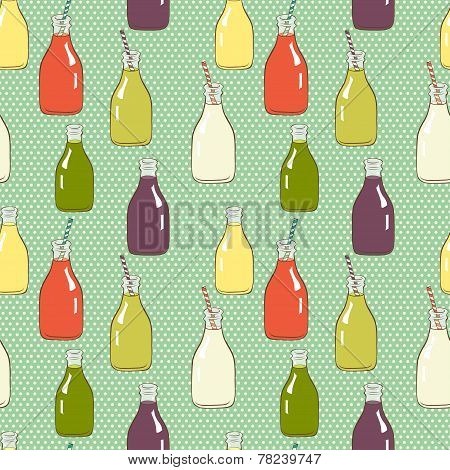 Cartoon Bottles Pattern.