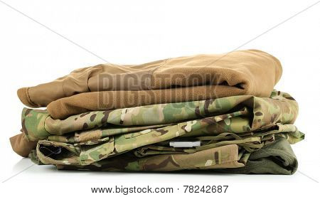 Army uniform, isolated on white
