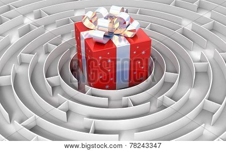 Maze to gift