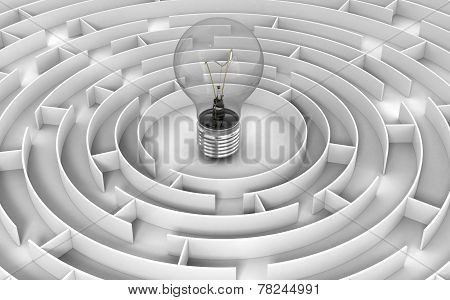 Maze to Light Bulb