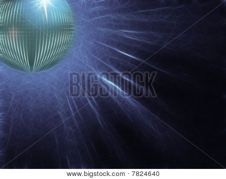Sparkling Silver Disco Ball With Electric Rays