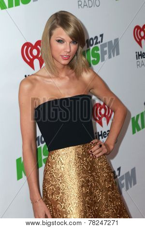 LOS ANGELES - DEC 5:  Taylor Swift at the KIIS FM's Jingle Ball 2014 at the Staples Center on December 5, 2014 in Los Angeles, CA