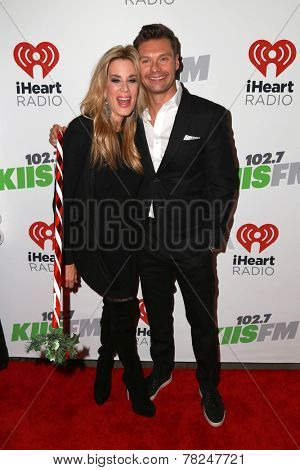 LOS ANGELES - DEC 5:  Ellen K, Ryan Seacrest at the KIIS FM's Jingle Ball 2014 at the Staples Center on December 5, 2014 in Los Angeles, CA
