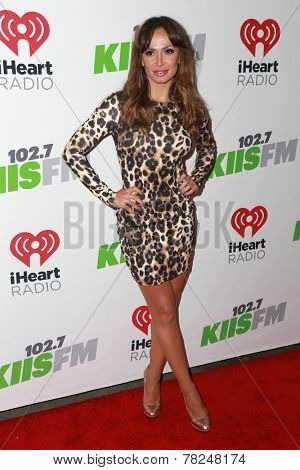 LOS ANGELES - DEC 5:  Karina Smirnoff at the KIIS FM's Jingle Ball 2014 at the Staples Center on December 5, 2014 in Los Angeles, CA