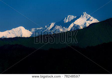 Mt. Kanchenjunga In Kalimpong