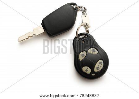 Car Remote Key On White