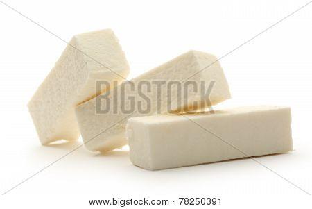 White Marshmallow Sticks On White