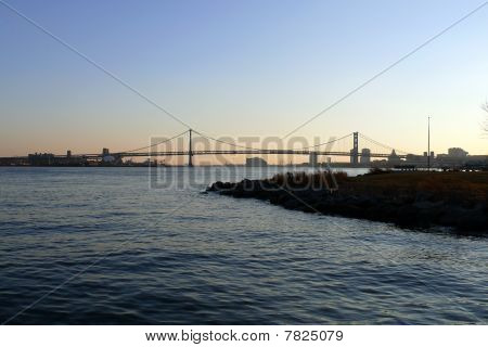 Philadelphia Riverfront Sunset