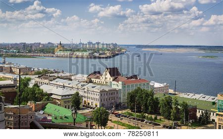?onfluence Of The Volga And The Oka. Nizhny Novgorod. Russia