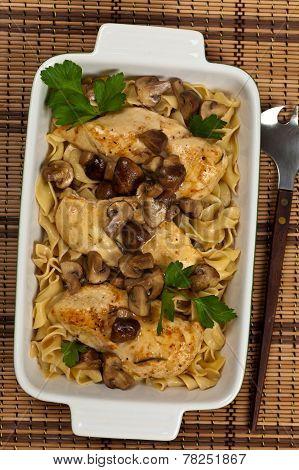 Chicken Marsala dinner