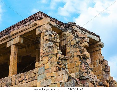 Part Of Great Architecture Ancient Gangaikonda Cholapuram Temple, India, Tamil Nadu, Thanjavur (tric