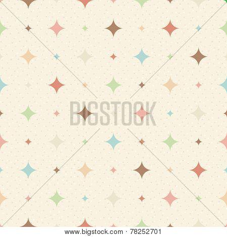 Color Seamless Textured Diamond Pattern.