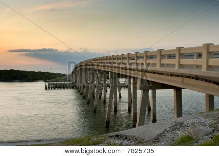 Bridge Arching Over Bay