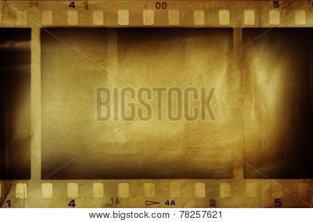 Film negative frames, film strips border