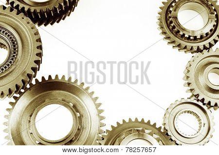 Metal cog wheels bonding together
