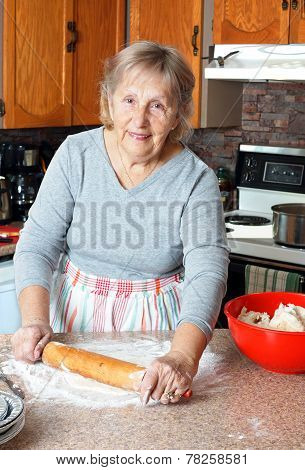 Grandma Making Pies