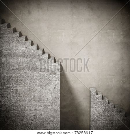 3d concrete grunge stair background