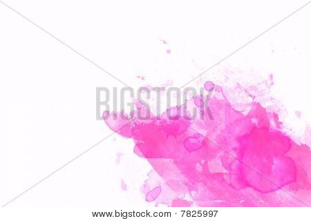 Pink Abstract Illustration With White Space For Design